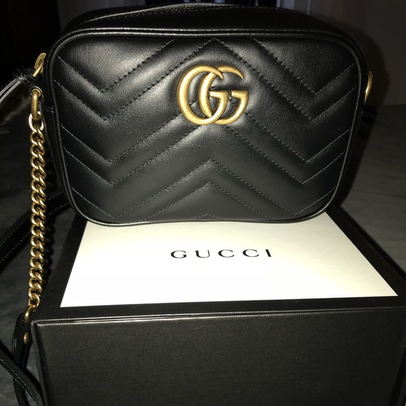 ebd38ea11be Gucci Handbags - Gucci GG Marmont Mini Matelassé Camera Bag
